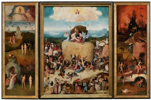 Jheronimus Bosch 'Hooiwagen-triptiek' ca. 1515 (Museo Nacional del Prado, Madrid)