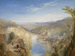 J.M.W. Turner, Modern Italy – the Pifferari, 1838, olieverf op doek, Glasgow museums. Uit: Gevaar & Schoonheid. Turner en de traditie van het sublieme.