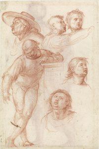 Studie voor een bijfiguur in Madonna della Misericordia (ca. 1515) Rotterdam, Museum Boijmans van Beuningen