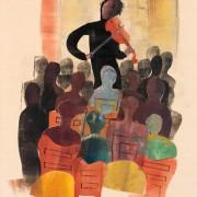 Violist en publiek 1942