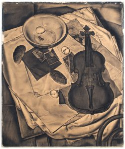 Dick Ket, Hynches-Schumacherstilleven, krijt op karton, 1937. Collectie Museum Arnhem. Marc Pluim