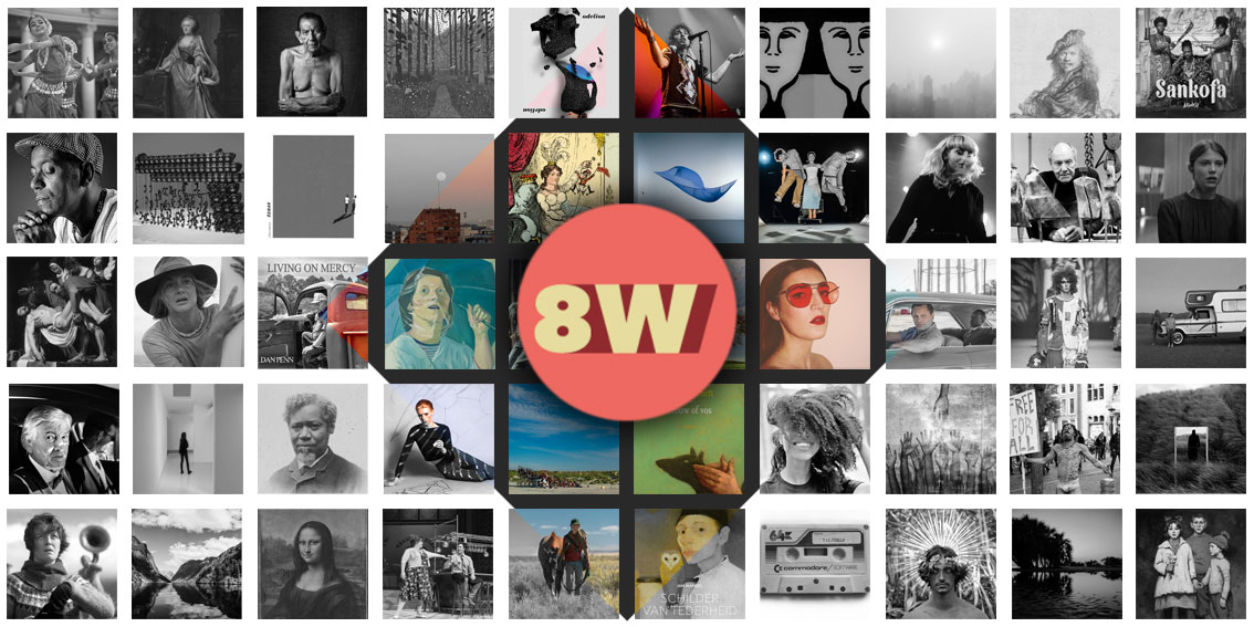 Wand met foto's van de afgelopen 60 jaar
